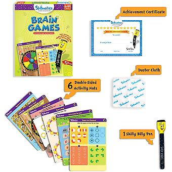 skillmatics boredom buster junior write and wipe activity mats ages 3-6 years