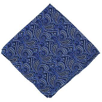 Michelsons Lontoo koko Paisley silkkisen nenäliinan - sininen