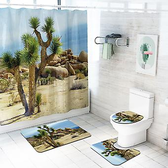 4 Piece Desert Shower Curtain Set