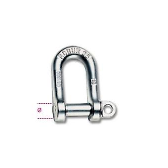 Beta 080250706 6mm Large Dee Shackles Hot Forged Carbon Steel Grade 4 Galvanized