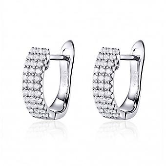Silver Earrings Beautiful - 6543