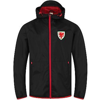 Pays de Galles Cymru FAW cadeau officiel Mens Peaked Hood Veste de douche Windbreaker