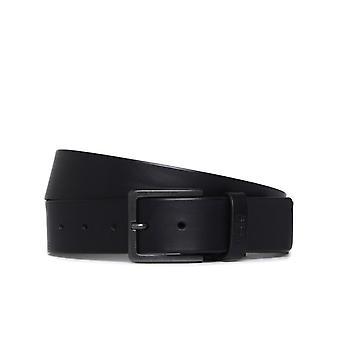 HUGO Gionio schwarz Ledergürtel