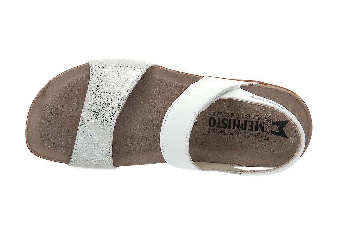 Mephisto agave white sandals