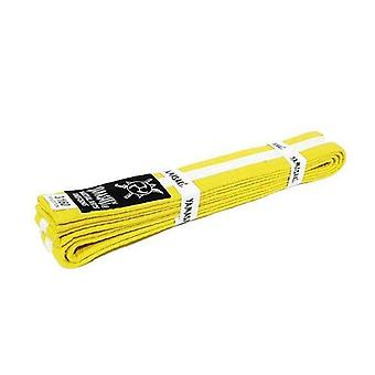 Yamasaki Coloured Martial Arts Belts With White Stripe Yellow