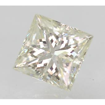 Certified 0.71 Carat H VVS2 Princess Enhanced Natural Diamond 4.99x4.89mm 2VG