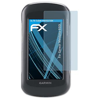 atFoliX Glass Protector compatible with Garmin Montana 650t Glass Protective Film 9H Hybrid-Glass