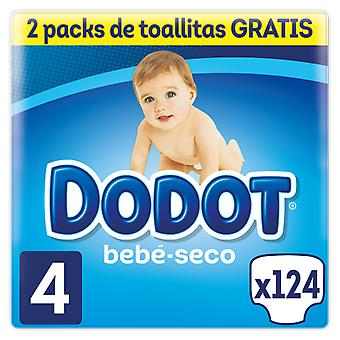 Dodot Baby Dry Diaper Size 4 with 124 Units + 128 wipes
