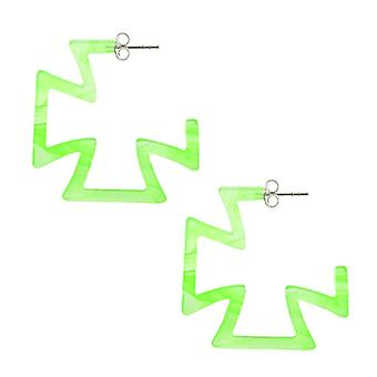 28mm Peridot UV cross ear vanne