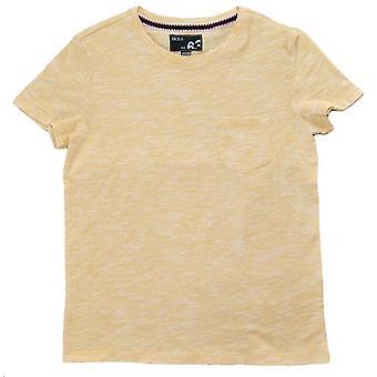 T-shirt met zak, geel