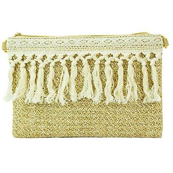 Macrame Tassel Raffia Clutch Bag