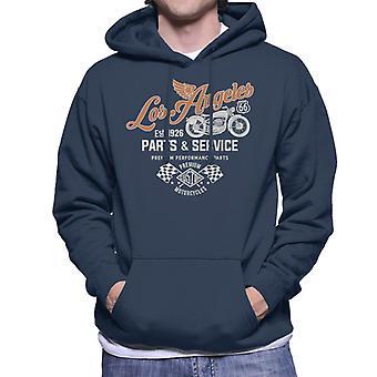 Route 66 Los Angeles Parts & Service Men's Hooded Sweatshirt