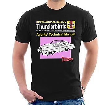 Thunderbirds Agents Technical Manual Fab 1 Men's T-Shirt