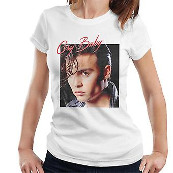 Cry Baby Johnny Depp Distressed Portrait Women's T-Shirt