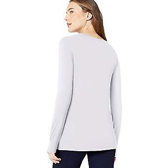 Marca - Daily Ritual Women''s Jersey Long-Sleeve Crew Neck Shirt, White...