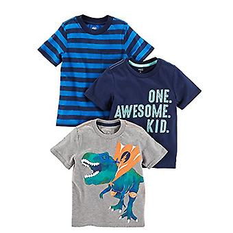 Simple Joys by Carter's Baby Boys' Toddler 3-Pack Graphic Tees, Awesome, Stri...