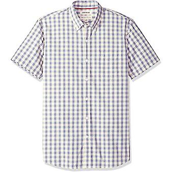 Goodthreads Men's Standard-Fit Short-Sleeve Plaid Poplin Shirt, -elfenbein check,...