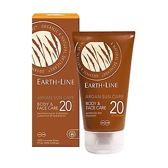 Argan sunscreen face and body SPF20 medium protection 150 ml of cream