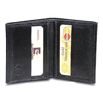 Primehide BASIC - Mens Leather Wallet - RFID Blocking - Preto / Marrom - 87