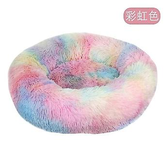 Dog Bed Long Plush Super Soft Bed Kennel Round Dog House Cat Bed For Dogs Cushion Big Large Mat Bench Pets Bed Supplies