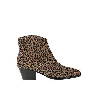 Ash Ezgl040100 Kvinnor's Leopard Mocka Ankelstövlar