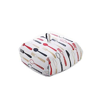 Household Collapsible Food Cover Red 37x37x15CM