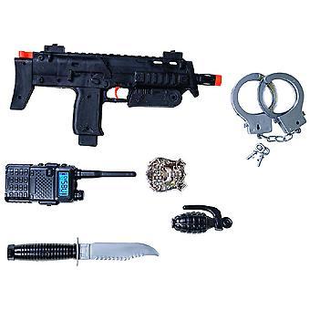 SWAT Set 6 tlg. Kinderset Jungen Einsatzkommando Armee Karneval