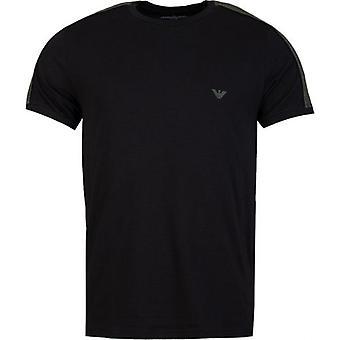 Emporio Armani Tape Sleeve Chest Logo T-Shirt