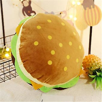 Creative Burger Plysch Leksak- Mjuk vadderad plysch kudde kudde söt hamburgare