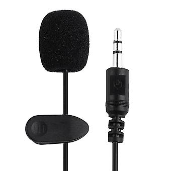 3.5mm Pc / Telefono / Fotocamera Mini Microfono Lapel Lavalier Mic, Portatile Esterno