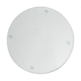 Glass Worktop Saver - Modern Style Round Chopping Board - Clear - 30cm