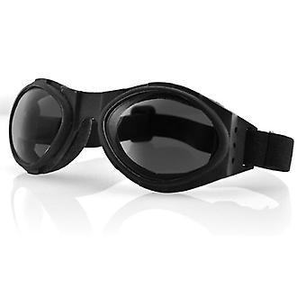 Balboa BA001 Bugeye svart ram Goggle - rökt lins