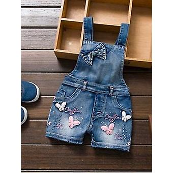 Cute Sweet Fashion Washed Jeans, Denim Romper Jumpsuits, Straps Short Pants