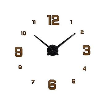 Modern Design Rushed Quartz Super Big Clocks Fashion Watches Mirror Sticker