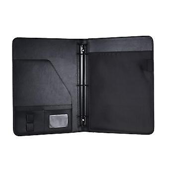 Professional Business Portfolio Padfolio Folder Document Case Organizer A4 Pu Leather With Business Card U Flash Disk Holder