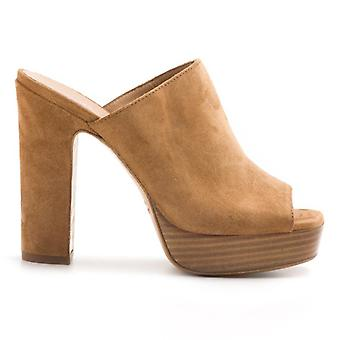 Suede Slipper with High Heel E Plateau
