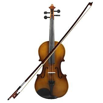 4/4 Acoustic Violin, Fiddle Wood With Case Bow, Rosin Violin (wood Color)