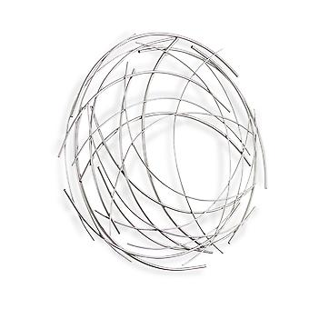 Silver Metal Abstract Round hanging Wall Art Decor