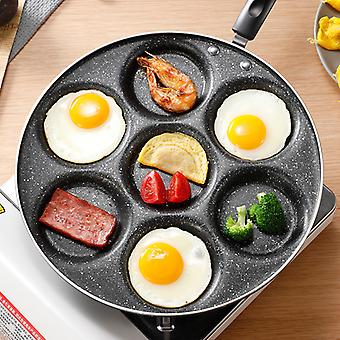 Seven-hole Frying Pot Thickened Omelet Pan Non-stick Egg Pancake Steak Pan Cooking Egg Ham Pans Breakfast Maker