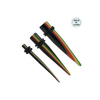 Multi farge akryl pigg øre bårer / tapers - 6 gauge til 00g