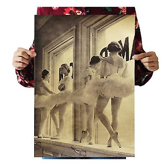 Ballet In The Rest Vintage Kraft Paper Classic Movie Poster