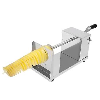 Manual Potato Slicer, Stainless Steel Twisted Spiral French Fry Tornado, Fruit