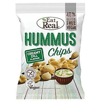 Mangez real creamy dill hummus chips 45g x12