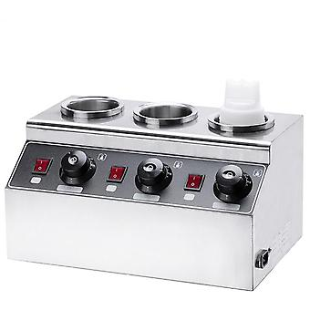 Electric Sauce Warmer Commercial Bottles Hot Cheese Chocolate Heater Stainless
