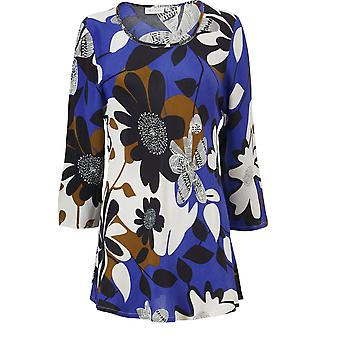Masai Clothing Kia Blue Bold Floral Top