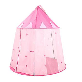 Children's Castle Game Tent House Pink Portable Lightweight Portable Foldable Princess Game Tent