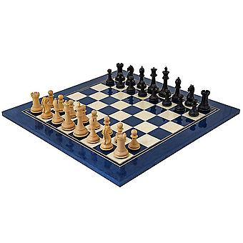 Oxford Series Black & Blue Erable Chess Set
