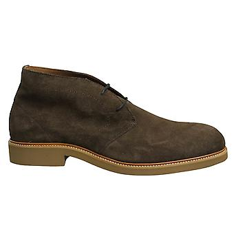 Hackett London Chino Unlined Brown Lace Up Mens Chukka Shoes HMS20803 878