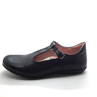 PETASIL Tbar With Buckle Shoe Black