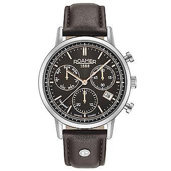 Roamer 975819 40 55 09 Vanguard Chronograph II Brown Wristwatch